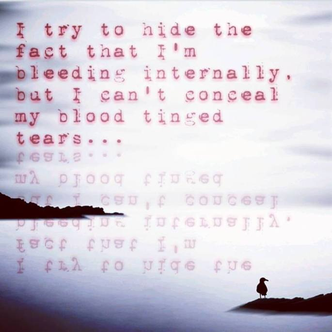 blood tinged tears